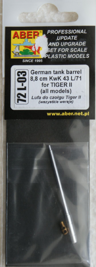 ABER 1/72 72L-03 88L71 for Tiger II